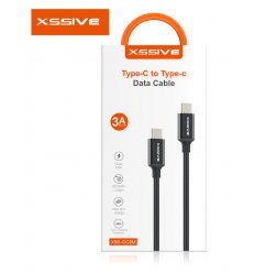 Xssive USB-C To USB-C Cable 2 M Braided extra stevig